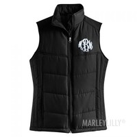 Monogrammed Puffy Vest   Marley Lilly