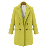 Payton Long Wool Double Breasted Coat