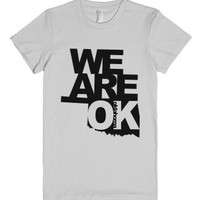 We Are OK[LAHOMA]-Female Silver T-Shirt