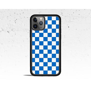 Blue Checkered Phone Case for Apple iPhone