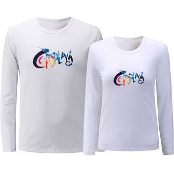 Coldplay ROCK MUSIC BAND Couples T shirt Mens Womens Graphic Long Sleeve Printing Cotton Tee Shirts Tops Valentines Day Gift|T-Shirts