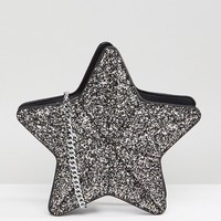 Skinnydip Glitter Star Novelty Cross Body Bag at asos.com