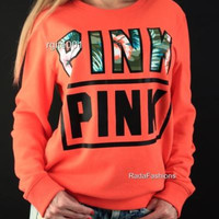 2017 new Autumn Fashion love Pink Thick Warm Hoodies Pullovers VS PINK Winter Graphic Sweatshirts Women Harajuku Cute