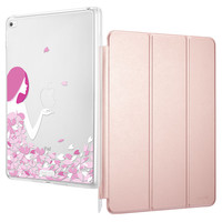ESR PU Leather Magnetic Front cover case with Soft TPU Bumper Cute Cartoon Back case for iPad mini 4