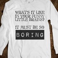 Sherlock-Funny Little Brains-Unisex White T-Shirt