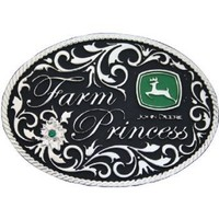Montana Silversmiths Farm Princess John Deere Attitude Belt Buckle