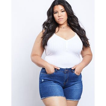 Plus Size Nikki Denim Shorts