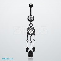 Blackline Dreamcatcher Belly Button Ring