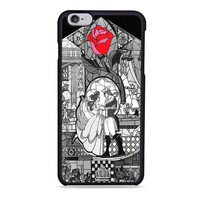 black white Beauty and the Beast wedding Disney Iphone 6 Case