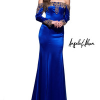 Angela & Alison 51066 Off the Shoulder Long Sleeve Prom Dress Evening Gown