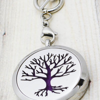 Essential Oil Locket - Tree of Life Essential Oil Diffuser Necklace - Aromatherapy Necklace - Diffuser Locket - Aromatherapy Jewelry