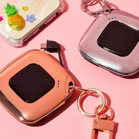 Free People V4 Solar Charger Keychain