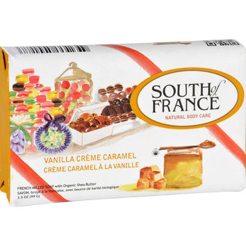 South Of France Bar Soap - Vanilla Creme Caramel - Limited Edition Holiday - 3.5 Oz - Case Of 6