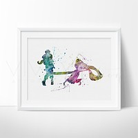 Tangled Rapunzel Watercolor Art Print