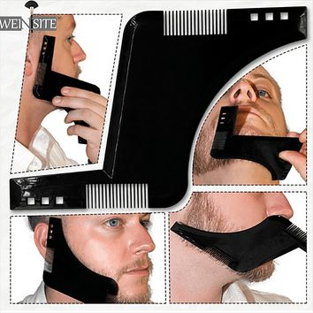 New Men Beard Shaping Styling Template Comb Men's Double Sided Beards Combs Beauty Tool for Hair Beard Trim Templates Innovative