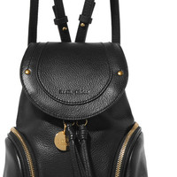 See by Chloé - Olga small textured-leather backpack