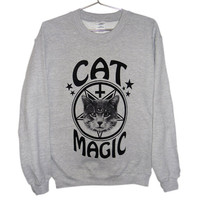 Cat Magic Occult Unisex Sweatshirt (ATTN: notate SIZE during checkout)