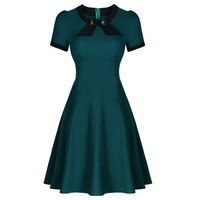 Tonval Womens Short Sleeve Elegant Rockabilly Retro 50s Bow Vintage Casual Formal Evening Party Swing Dresses-in Dresses from Women's Clothing & Accessories on Aliexpress.com   Alibaba Group