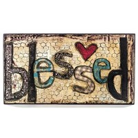 Blessed with Heart Wall Block   Shop Hobby Lobby