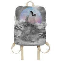 Maybe the Wolf Is In Love with the Moon Backpack created by soaringanchordesigns | Print All Over Me