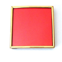 Gold Picture Frame - Small Photo Frame - Square Picture Frame - 80s Vintage Frame - Table Photo Frame - Hanging Frame - Brass Picture Frame