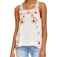 Free PeopleBorder Print Cross Back Top