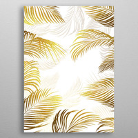 Gold palm leaves by Jace Anderson | Displate