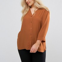 ASOS CURVE V Neck Blouse with 3/4 Sleeve at asos.com