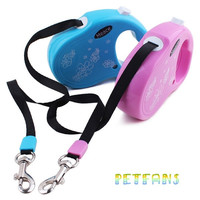 Fashion 3M Dog lead retractable Dog leash Pet Traction Rope Chain Harness dog collar Flower Print = 1930093956
