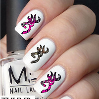 50pc Him N Her Pink Camo Brown Camo Deer Nail Decals Nail Art Nail Stickers Best Price On Etsy