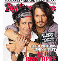 Johnny Depp & Keith Richards, Rolling Stone no. 1027, May 31, 2007 Photographic Print by Matthew Rolston at AllPosters.com
