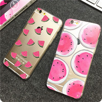 """Newest Hot Sale fashion Watermelon Image Logo Light TPU Phone Back Cover Phone Case For Iphone 6 4.7"""""""