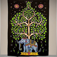 Special Hand Painted Elephant Tree Tapestry, Limited Edition for Christmas and New Year Gift