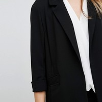 New Look Longline Wrap Front Blazer at asos.com
