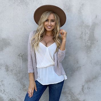 All Around Knit Cardigan in Oatmeal