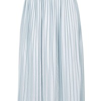Jersey Pleat Midi Skirt