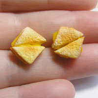 Grilled Cheese Miniature Food Jewelry Earrings can by NeatEats