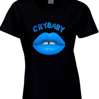 Melanie Martinez Crybaby Blue Mouth  Womens T Shirt