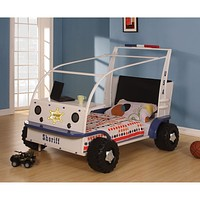 ACME 37290T SASHI WHITE AND BLUE TWIN CAR BED