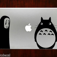 Spirited Away With My Neighbor Totoro Mac Decals Stickers For Macbook 13 Pro Air