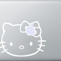 "13"" White Hello Kitty Bow Decal for Macbook, Pro and Air"