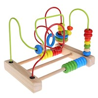 Wooden Toddler Toys Circle Bead Maze Educational Toys Gift For Children Kids