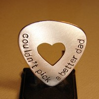 Could not pick a better Dad guitar pick in bronze