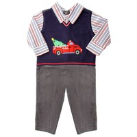 Suitsie Mock-Layer Sweater Vest Coverall - Baby Boy, Size: