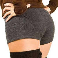 Charcoal Small Sexy Low Rise Yoga & Dance Shorts Stretch Knit KD dance New York Trending Dancewear Shorts Made In USA