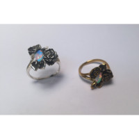 HOME :: Style :: JEWELRY :: Opal Floral Ring