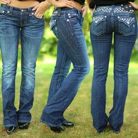 Sequin & Pepper Bootcut Jeans by Miss Me