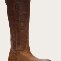 Frye Paige Tall Cognac Leather Riding Boots