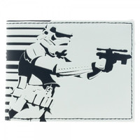 Star Wars Storm Trooper White Bi-Fold Wallet