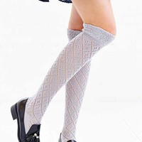 Diamond Ruffle Over-The-Knee Sock-